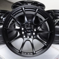"16 Inch Matte Black Automotive Rims 16"" Wheels - Set of 4"