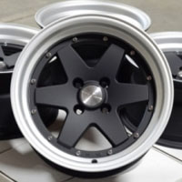 "15 Inch Matte Black w/ Machine Lip Automotive Rims 15"" Wheels - Set of 4"