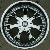 "20"" x 8.5"" FWD Triple Plated Chrome Automotive Rims 20"" Wheels - Set of 4"
