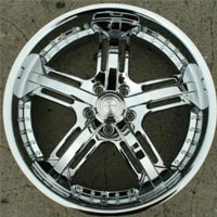 "20 Inch Triple Plated Chrome Automotive Rims 20"" Wheels"
