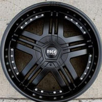 "20 x 8.5 Inch Full Matte Black Automotive Rims - 20"" Wheels Set of Four"