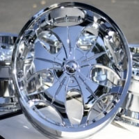 "22 Inch Chrome Automotive Rims 22"" Wheels - Set of 4"