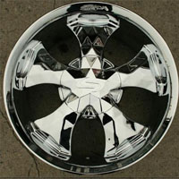 "20"" x 8.5"" Triple Plated Chrome Automotive Rims - Set of Four"