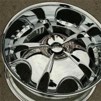 20 x 8.5 Inch Triple Plated Chrome Automotive Bowl Rims - Set of Four