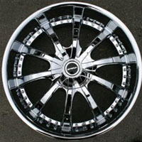 "22"" x 8.5"" Inch Triple Plated Chrome Automotive Rims 22"" Wheels - Set of Four"
