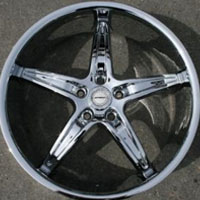 "22 x 8.5 Inch Triple Plated Chrome Automotive Star Shape Rims 22"" Wheels - Set of Four"