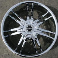 "20"" x 8.5"" Triple Plated Chrome FWD Automotive Rims 20"" Wheels Set of Four"