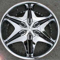 "20 x 8.5 Inch Triple Plated Chrome Automotive Rims 20"" Wheels - Set of 4"