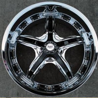 "20"" x 8.5"" Inch Triple Plated Chrome Automotive Star Rims - Set of Four"