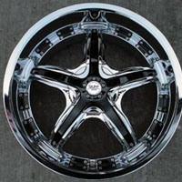 "20 x 10 - Chrome w/ Black Inserts Automotive Rims 20"" Wheels Set of 4"