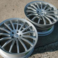 "20 x 8.5 / 20 x 10.0 Inch Full Silver Automotive Rims - 20"" Wheels - Set of Four"