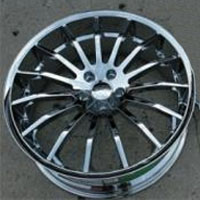 "22 x 9.0 / 22 x 10.5 Inch Triple Plated Chrome Automotive Rims 22"" Wheels - Set of 4"