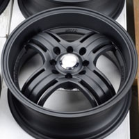 "15 Inch Matte Black Automotive Rims 15"" Wheels - Set of 4"
