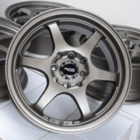 "15 Inch Matte Bronze Lip Automotive Rims 15"" Wheels - Set of 4"