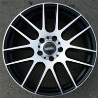 "18 Inch Matte Black w/ Machined Face Automotive Rims 18"" Wheels - Set of 4"