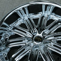 "20"" x 8.5"" / 20"" x 10"" Triple Plated Chrome Automotive Rims 20"" Wheels Set of Four"
