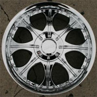 "20"" x 8.5"" Inch Triple Plated Chrome Automotive Rims - Set of Four"