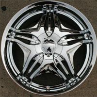 "20 x 8.5 Inch Triple Plated Chrome Automotive Rims 20"" Wheels Set of Four"