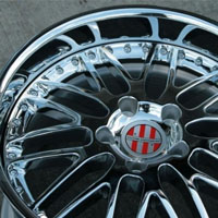 "19 x 8.5 / 19 x 11.5 Inch Triple Plated Chrome Automotive Rims 19"" Wheels - Set of 4"