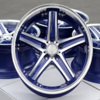 "18 Inch Blue Automotive Rims 18"" Wheels - Set of 4"