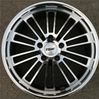"18 Inch Gunmetal w/ Machined Face & Lip Automotive Rims 18"" Wheels - Set of 4"