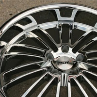 20 x 8.5 / 20 x 10 Inch Triple Plated Chrome Automotive Rims - Wheels Set of Four