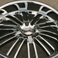 20 x 8.5 / 20 x 10 Inch Triple Plated Chrome Automotive Rims - Set of Four