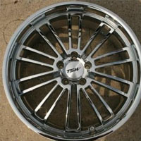"20"" x 8.5"" Inch Triple Plated Chrome Automotive Rims - Wheels Set of Four"