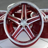 "18 Inch Red Automotive Rims 18"" Wheels - Set of 4"