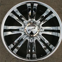 "20"" x 9.0"" Inch Triple Plated Chrome Finish 8 Lug Automotive Rims - 20"" Wheels - Set of Four"