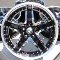 "19 Inch Black w/ BMW Emblem Automotive Rims 19"" Wheels - Set of 4"
