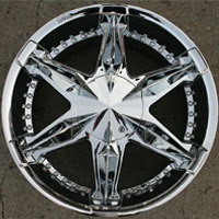 "20"" x 9.0"" Inch Triple Plated Chrome Automotive Rims - Set of Four"