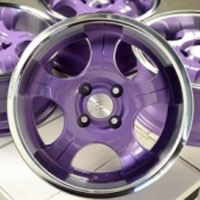"15 Inch Purple Automotive Rims 15"" Wheels - Set of 4"