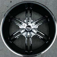 "22 x 9.0 Inch Chrome w/ Black Cover Automotive Rims 22"" Wheels - Set of Four"