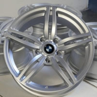"17 Inch Silver w/ BMW Emblem Automotive Rims 17"" Wheels - Set of 4"