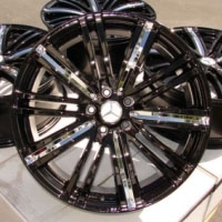 "17 Inch Black w/ Chrome Insert Automotive Rims 17"" Wheels - Set of 4"