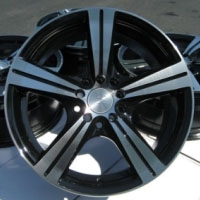"16 Inch Black Automotive Rims 16"" Wheels - Set of 4"