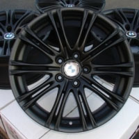 "18 Inch Matte Black w/ BMW Emblem Automotive Rims 18"" Wheels - Set of 4"
