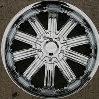 20 x 8.5 Inch Triple Plated Chrome Automotive Royal Rims - Set of Four