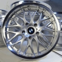 "19 Inch Silver w/ BMW Emblem Automotive Rims 19"" Wheels - Set of 4"