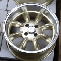 "15 Inch Gold w/ Machined Lip Automotive Rims 15"" Wheels - Set of 4"