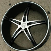 "22"" x 8.5"" Inch Gloss Black w/ Machined Face & Bezel Automotive Rims 22"" Wheels - Set of Four"