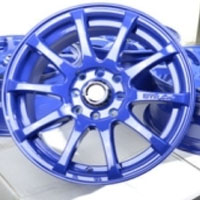 "15 Inch Blue Automotive Rims 15"" Wheels - Set of 4"