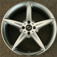 "18 x 7.5 Inch Silver Machined Automotive Rims 18"" Wheels - Set of 4"