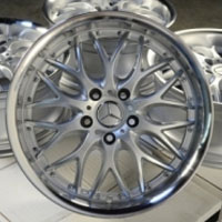 "17 Inch Silver w/ Polished Lip Automotive Rims 17"" Wheels - Set of 4"