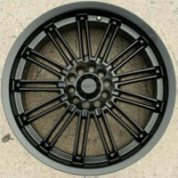 "20 x 7.5 Inch Full Matte Black Automotive Rims 20"" Wheels - Set of 4"