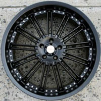 "20 x 8.5 - Full Matte Black Automotive Rims 20"" Wheels - Set of 4"