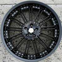"22 x 8.5 Inch Full Matte Black Automotive Rims 22"" Wheels - Set of Four"