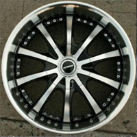 "20 x 8.5 Inch Gloss Black w/ Machined Face & Lip Automotive Rims 20"" Wheels Set of Four"