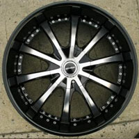 "22"" x 8.5"" Inch Gloss Black w/ Machined Face Automotive Rims 22"" Wheels - Set of 4"